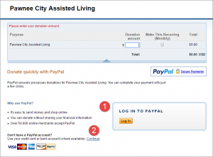 PayPal-Donations-LandingPage